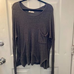Long grey slouchy lounge shirt